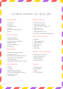 Ultimate Family Packing List For Baby