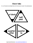 Paper Clock Tabs Template
