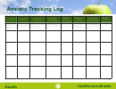 Anxiety Tracking Sheet