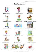 Los Verbos -ar Spanish Flashcard Template Set