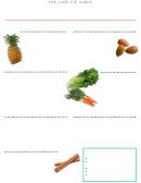 Clean Eating Shopping List Template