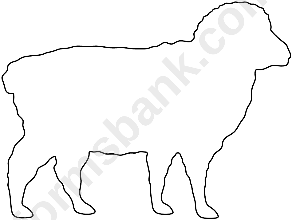 Black And White Sheep Template