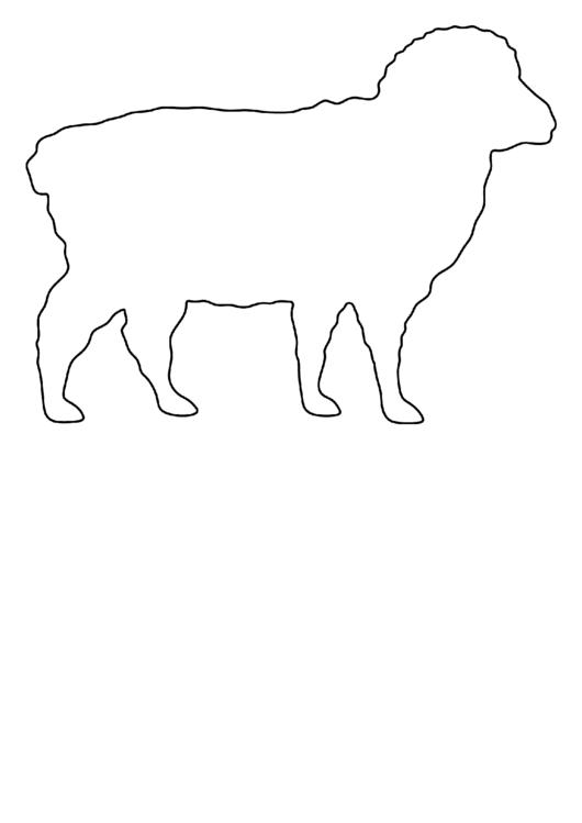 Black And White Sheep Template Printable pdf