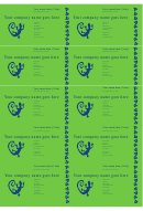 Business Cards Blue/green Template
