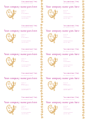 Business Cards White/magenta Template