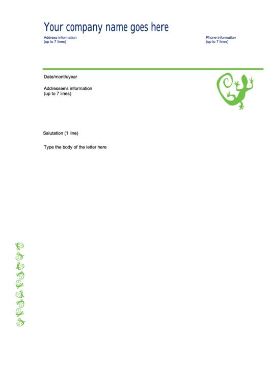 Letterhead Blue/green Business Letterhead Template