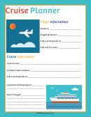 Cruise Planner Template