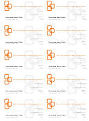 Orange Business Cards Template