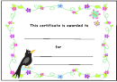 Flower Certificate Template