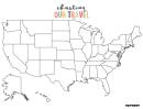 Usa Map Template