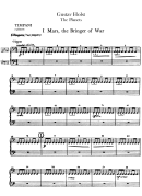 The Planets By Gustav Holst Piano Sheet Music