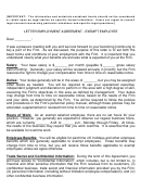 Letter Employment Agreement-exempt Employee Template