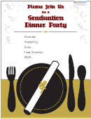 Graduation Dinner Party Invitation Template