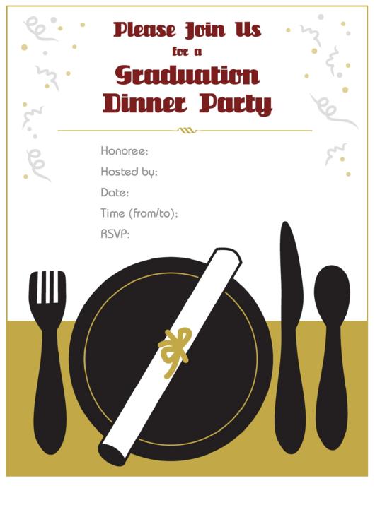 Graduation Dinner Party Invitation Template