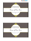 Wine Label Template - Brown Background