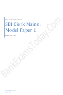 Sbi Clerk Mains Exam Template With Answers