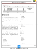Sbi Clerk Prelims Exam Template With Answers
