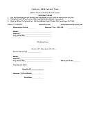 Local Services Tax Form - Mifflin County School District Area