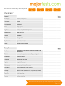 Vocabulary For Standardized Tests Word List 7 Template