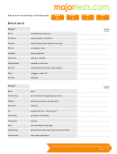 Vocabulary For Standardized Tests Word List 9 Template
