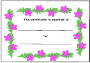 Floral Certificate Template