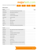 Vocabulary For Standardized Tests Word List 4 Template