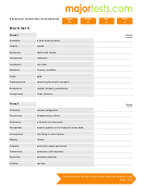 Vocabulary For Standardized Tests Word List 5 Template
