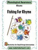 Fishing For Rhyme Phonological Awareness Activity Sheets