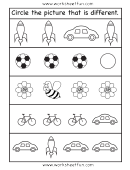 Circle The Picture That Is Different Activity Sheet