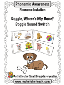 Doggie, Where's My Bone Phonemic Awareness Activity Sheets