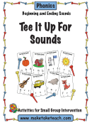 Tee It Up For Sounds Phonics Activity Sheets