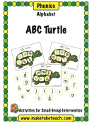Abc Turtle Phonics Activity Sheet