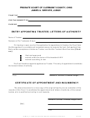 Form 40_4 - Entry Appointing Trustee; Letters Of Authority