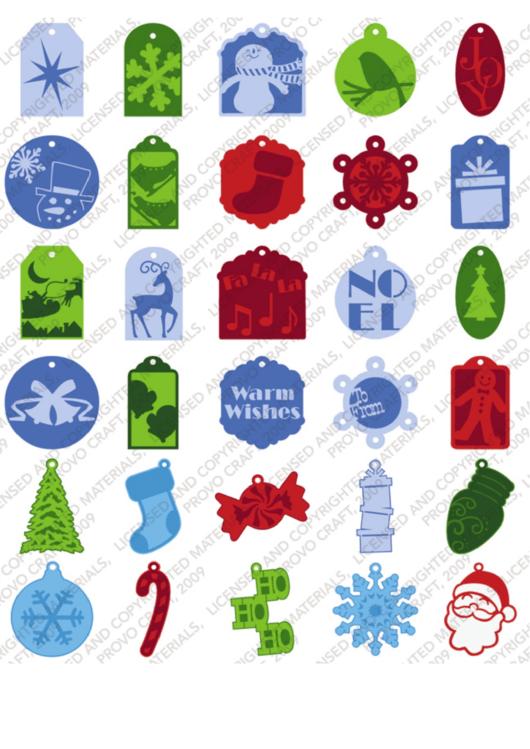 Very Merry Christmas Tag Template Set
