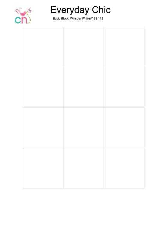 Blank Designer Series Paper Chart Template Set