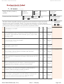 Form Dhcs 7098 - California Staying Healthy Assessment (spanish) - Health And Human Services