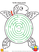 Turtle Shell Maze - Coloring And Activity Sheet