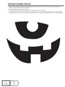 Cyclops Pumpkin Stencil
