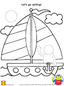 Let's Go Sailing Coloring Sheet