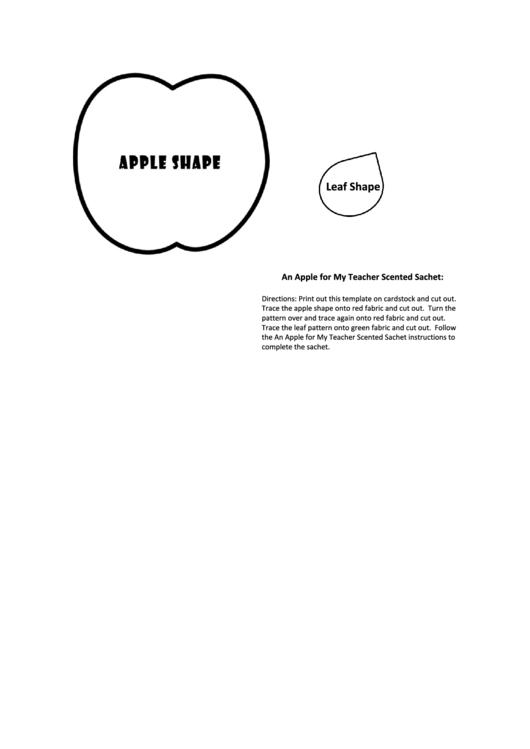 Apple And Leaf Template