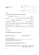 Letter Of Introduction For Visa Application