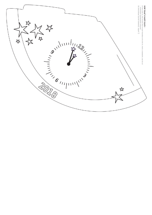 White New Year's Eve Party Hat Template - 2018