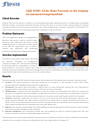 Case Study Paper: All The Major Processes In This Company Are Automated Using Sharepoint