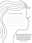 Life Issues Coloring Sheet - Things That Make Me Beautiful