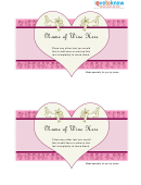 Wine Label Heart Template