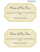 Wine Golden Label Template