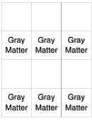 Gray Matter Biology Flashcards Template