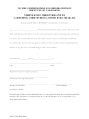 Form 260.241.2 - Verification Form Pursuant To Califonia Code Of Regulations Rule 260.241.2(b)