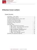 Effective Cover Letters Examples