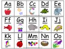 A-z Alphabet Card Template